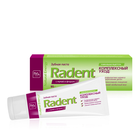 Toothpaste RADENT with shilajit and fluoride, for total care